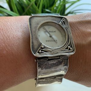 Silpada SterlingRetired Hammered Square Link Watch
